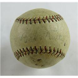Babe Ruth  Miller Huggins Signed OAL Baseball (JSA LOA)