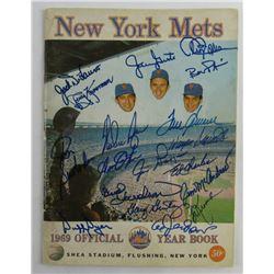 1969 New York Mets Yearbook Team-Signed by (44) with Nolan Ryan, Yogi Berra, Tom Seaver, Tug McGraw,