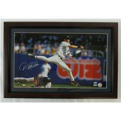 Derek Jeter Signed New York Yankees 16x24 Custom Framed Photo Display (Steiner COA  MLB Hologram)
