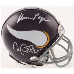 """Minnesota Vikings """"Purple People Eaters"""" Mini Helmet Signed by (4) with Carl Eller, Jim Marshall, Ga"""