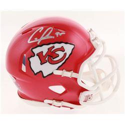 Chris Jones Signed Kansas City Chiefs Speed Mini Helmet (Beckett COA)