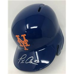 Pete Alonso Signed New York Mets Full-Size Batting Helmet (Fanatics Hologram)