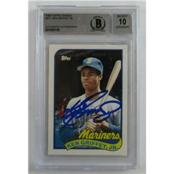 Ken Griffey Jr. Signed 1989 Topps Traded #41T RC (Beckett Encapsulated)