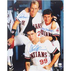 """Charlie Sheen, Corbin Bernsen  Tom Berenger Signed """"Major League"""" 16x20 Photo (Beckett COA  JSA COA)"""