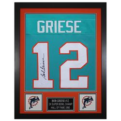 Bob Griese 24x30 Custom Framed Jersey Display (JSA COA)