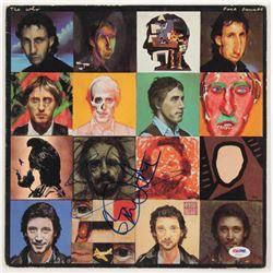 "Pete Townshend  Roger Daltrey Signed The Who ""Face Dances"" Vinyl Record Album Cover (PSA COA)"