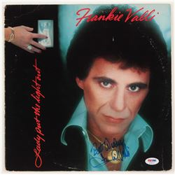 """Frankie Valli Signed """"Lady Put the Light Out"""" Vinyl Record Album Cover Inscribed """"Best Wishes"""" (PSA"""