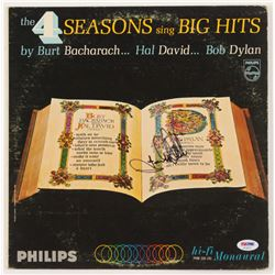 "Frankie Valli Signed The Four Seasons ""The Four Seasons Sing Big Hits"" Vinyl Record Album Cover (PSA"