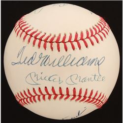 Triple Crown Winners OAL Baseball Signed by (4) with Mickey Mantle, Ted Williams, Frank Robinson  Ca