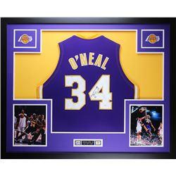 "Shaquille O'Neal Signed 35"" x 43"" Custom Framed Jersey (JSA COA)"