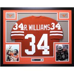 "Ricky Williams Signed 35x43 Custom Framed Jersey Inscribed ""HT 98"" (PSA COA)"