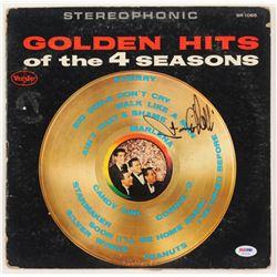 "Frankie Valli Signed ""Golden Hits of the 4 Seasons"" Vinyl Record Album Cover (PSA COA)"