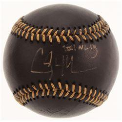"Clayton Kershaw Signed OML Black Leather Baseball Inscribed ""2011 NL Cy"" (MLB Hologram)"