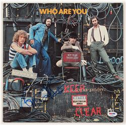 "Pete Townshend  Roger Daltrey Signed The Who ""Who Are You"" Vinyl Record Album Cover (PSA COA)"