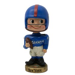 Vintage 1960's New York Giants Gold Base Bobblehead