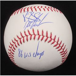 "Darryl Strawberry  Dwight ""Doc"" Gooden Signed OML Baseball Inscribed ""86 WS Champs"" (JSA COA)"
