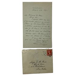 Grover Cleveland Signed Handwritten Letter with Original Envelope (Beckett LOA)