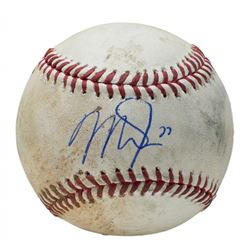 Mike Trout Signed Game-Used OML Baseball (PSA COA  MLB Hologram)