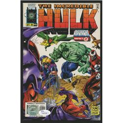"Stan Lee Signed 1996 ""The Incredible Hulk"" Issue #445 Marvel Comic Book (JSA COA  Lee Hologram)"