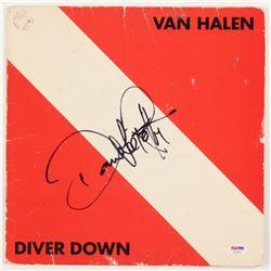 """David Lee Roth Signed Van Halen """"Diver Down"""" Vinyl Record Album Cover (PSA COA)"""