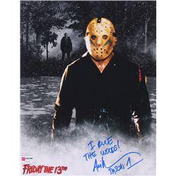 "Ari Lehman Signed Jason Voorhees 11x14 Photo Inscribed ""I Rule The Woods!""  ""Jason 1"" (PA COA)"