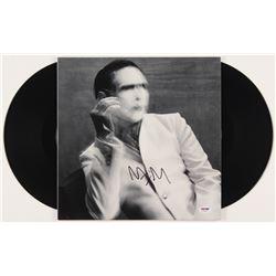 "Marilyn Manson Signed ""The Pale Emporer"" Vinyl Record Album (PSA COA)"