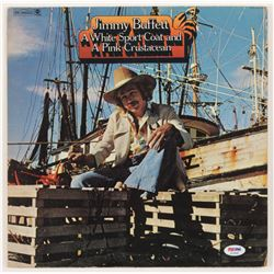 """Jimmy Buffett Signed """"A White Sport Coat and A Pink Crustacean"""" Vinyl Record Album Cover (PSA COA)"""