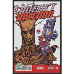 "Stan Lee Signed 2014 ""Rocket Raccoon"" Issue #5 Marvel Comic Book (JSA COA  Lee Hologram)"