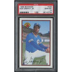 1989 Bowman #220 Ken Griffey Jr. RC (PSA 10)