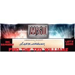 WSD Baseball Bat Box Mystery Box - Find the Ted Williams!