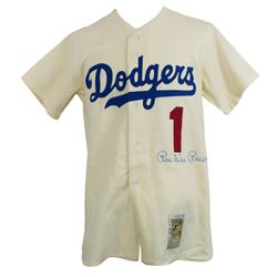 Pee Wee Reese Signed Brooklyn Dodgers Mitchell  Ness Jersey (Beckett LOA)