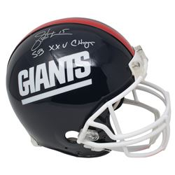 "Jeff Hostetler Signed New York Giants Full-Size Authentic On-Field Throwback Helmet Inscribed ""SB XX"