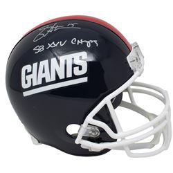 """Jeff Hostetler Signed New York Giants Throwback Full-Size Helmet Inscribed """"SB XXV Champs"""" (JSA COA)"""
