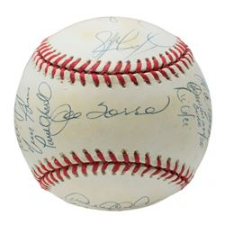 1998 New York Yankees World Series Baseball Team-Signed by (20) with Derek Jeter, Mariano Rivera, Jo