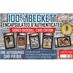 """100% Beckett Encapsulated  Authenticated"" Signed Mystery Box Baseball Card Edition"