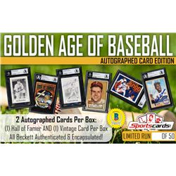 """Golden Age of Baseball"" – Hall of Fame  Vintage Mystery Box Autographed Card Edition! 2 Per B"