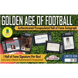 """Golden Age of Football"" – Hall of Fame Beckett Encapsulated Mystery Box Autograph Edition!"