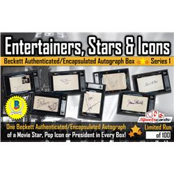 """Entertainers, Stars  Icons"" Beckett Authenticated / Encapsulated Autographs Mystery Box - Serie"