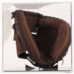 "Johnny Bench Signed Rawlings Catcher's Glove Inscribed ""10 G.G.""  ""HOF 89"" with Display Case (PSA CO"