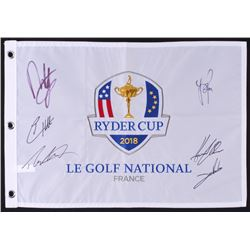 Team Europe Ryder Cup Golf Pin Flag Signed by (6) with Jon Rahm, Justin Rose, Henrik Stenson, Tommy