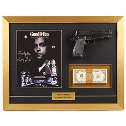"Henry Hill Signed 17x22 Custom Framed Photo Display with Replica Gun  Prop Money Inscribed ""Goodfell"