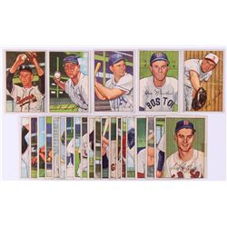 Lot of (25) 1952 Bowman Baseball Cards with #129 Gus Niarhos, #130 Allie Clark, #131 Bob Swift, #132