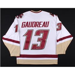 "Johnny Gaudreau Signed Boston College Eagles Jersey Inscribed ""Johnny Hockey""  ""2014 Hobey Baker"" (G"
