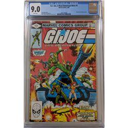"1982 ""G.I. Joe: A Real American Hero"" Issue #1 Marvel Comic Book (CGC 9.0)"