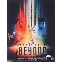"""Star Trek Beyond"" 11x14 Photo Signed by (7) with Justin Lin, Deep Roy, Chris Pine, Idris Elba, John"