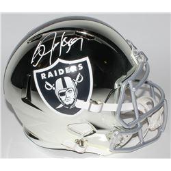 Bo Jackson Signed Los Angeles Raiders Full-Size Chrome Speed Helmet (JSA COA)
