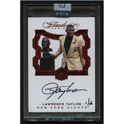 2018 Panini Honors Recollection Collection #4144 Lawrence Taylor / 2 / 2016 Flawless Hall of Fame Au