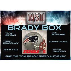 "WSD ""Brady Box"" Series 5 Mystery Helmet Box - Autographed Football Helmet Series"