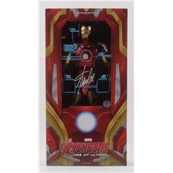 "Stan Lee Signed ""Avengers: Age of Ultron"" Iron Man Mark XLIII Marvel Action Figure (Lee Hologram)"