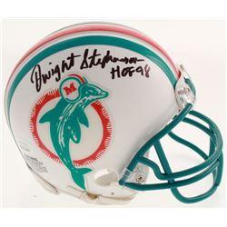"Dwight Stephenson Signed Miami Dolphins Mini Helmet Inscribed ""HOF 98"" (JSA COA)"